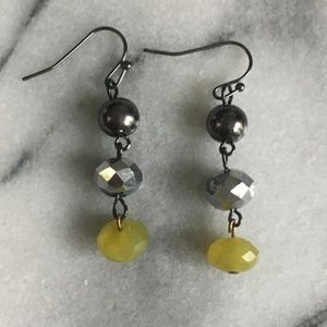 Genuine Peridot stone earrings